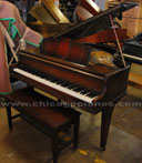 Used Wurlitzer Art Deco baby grand piano from Chicago Pianos . com
