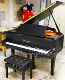 Hallet Davis HS-148 Ebony Satin Grand Piano
