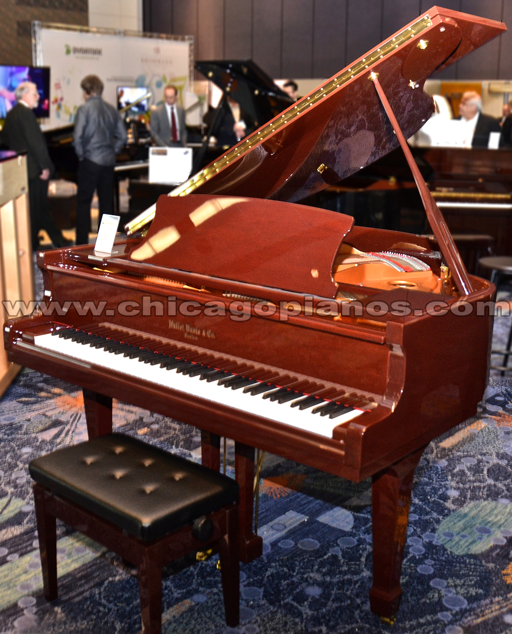 Hallet Davis HS-148 Mahogany Polish Grand Piano