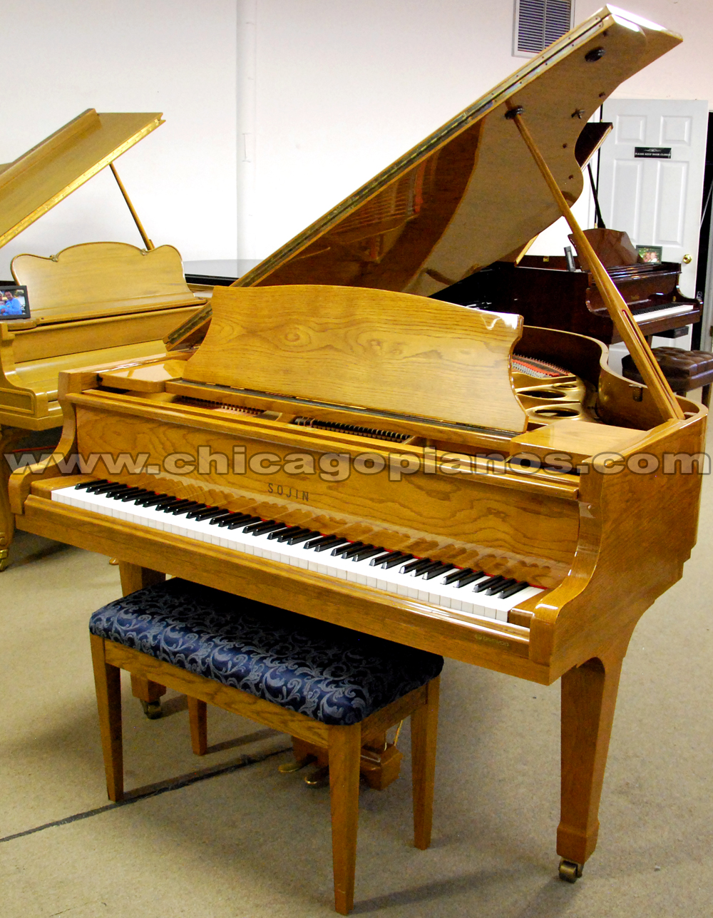 Used Sojin grand piano from Chicago Pianos . com